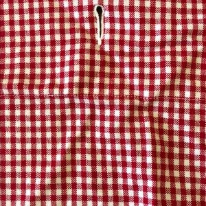 Pottery Barn Kids Red Check Shower Curtain